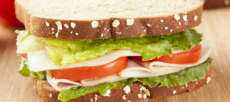 Turkey Mortadella Sandwich